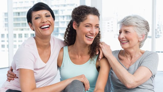 Three woman laughing